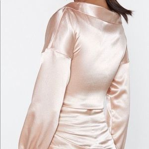Nasty Gal Tops - NWT Nasty Gal satin corset top in nude